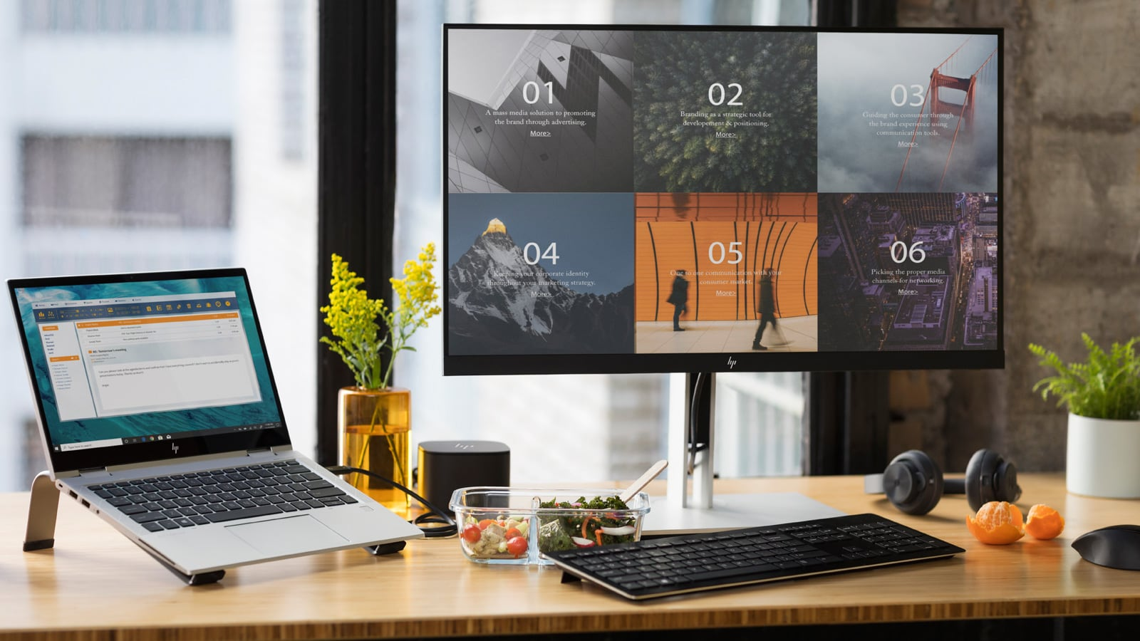 HP U27 4K Wireless Monitor features reduced latency to complete tasks with ease