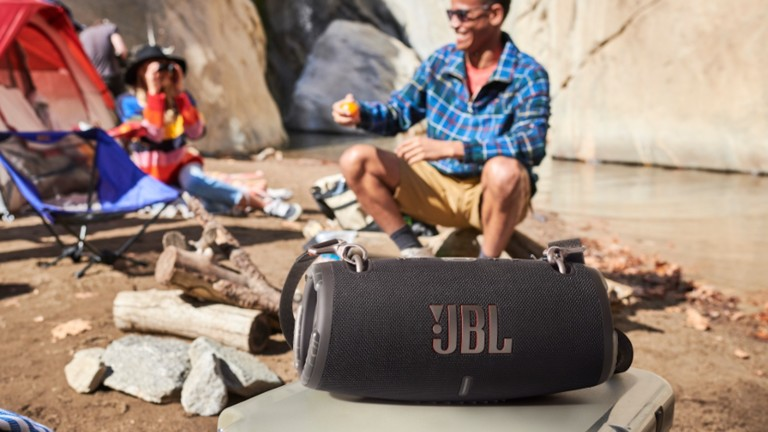 JBL Xtreme 3 portable waterproof speaker produces immersive stereo sound