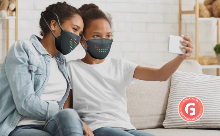 JabberMask Customizable LED Face Mask