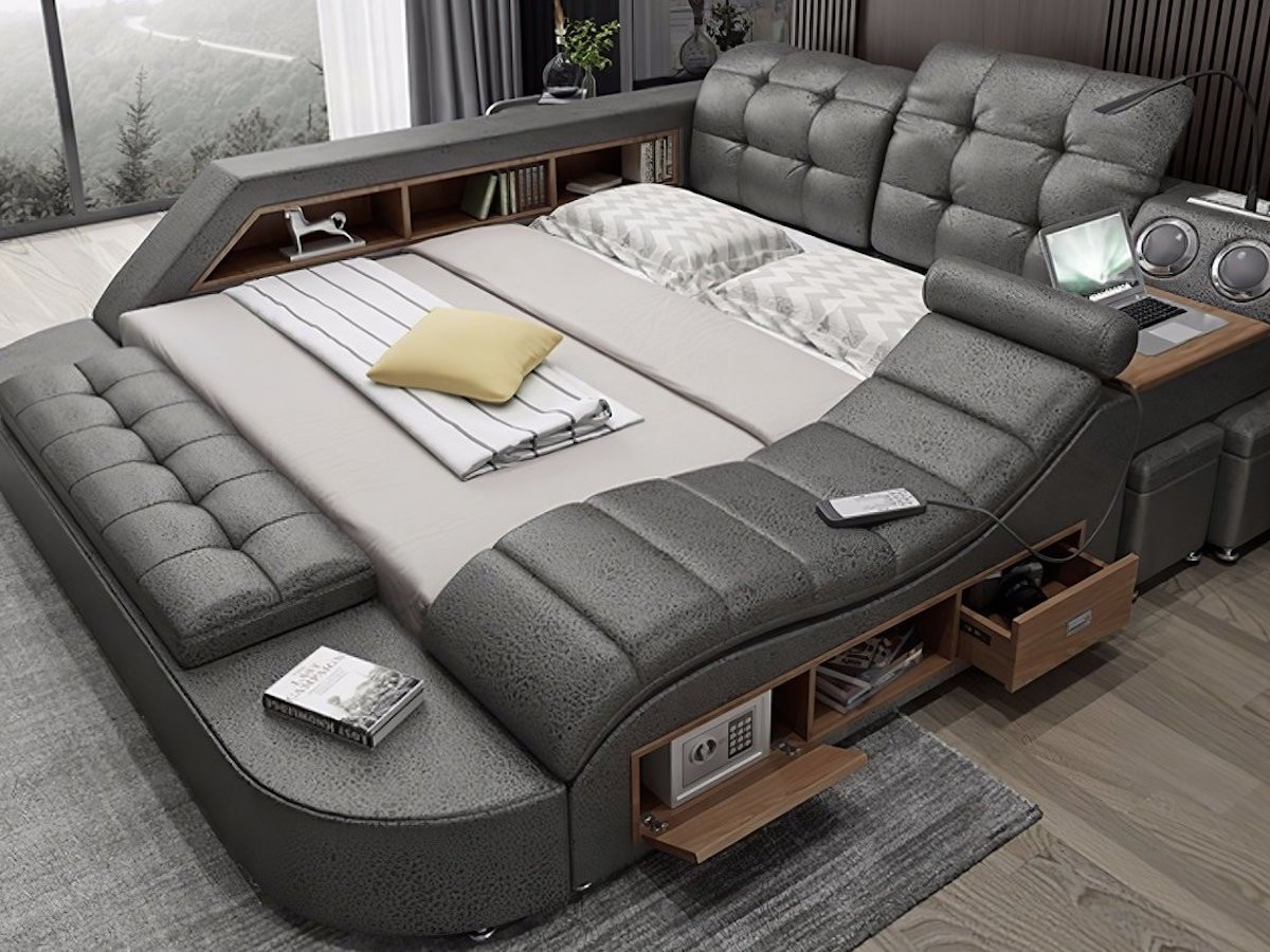 Hariana Tech Smart Ultimate Bed is a piece of all-in-one furniture with high-tech features