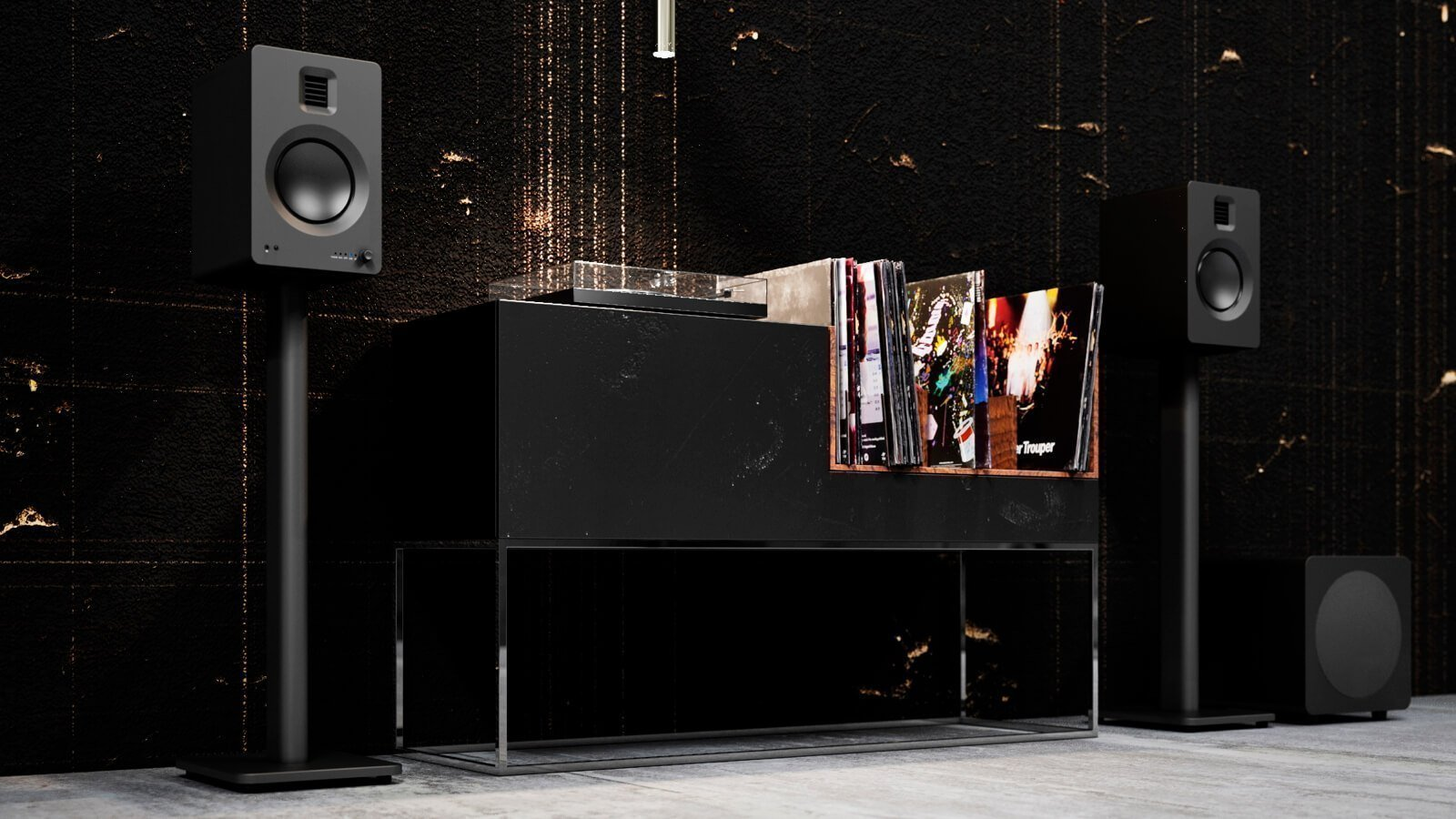 Kanto TUK Powered Bookshelf Speakers feature sparkling highs and rich bass