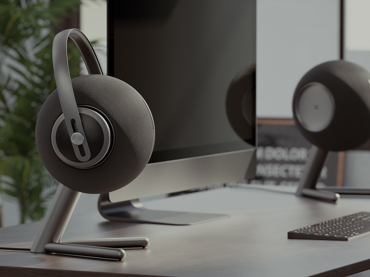 Talking Heads Speaker and headphones mount is an audiophile's solution to limited storage