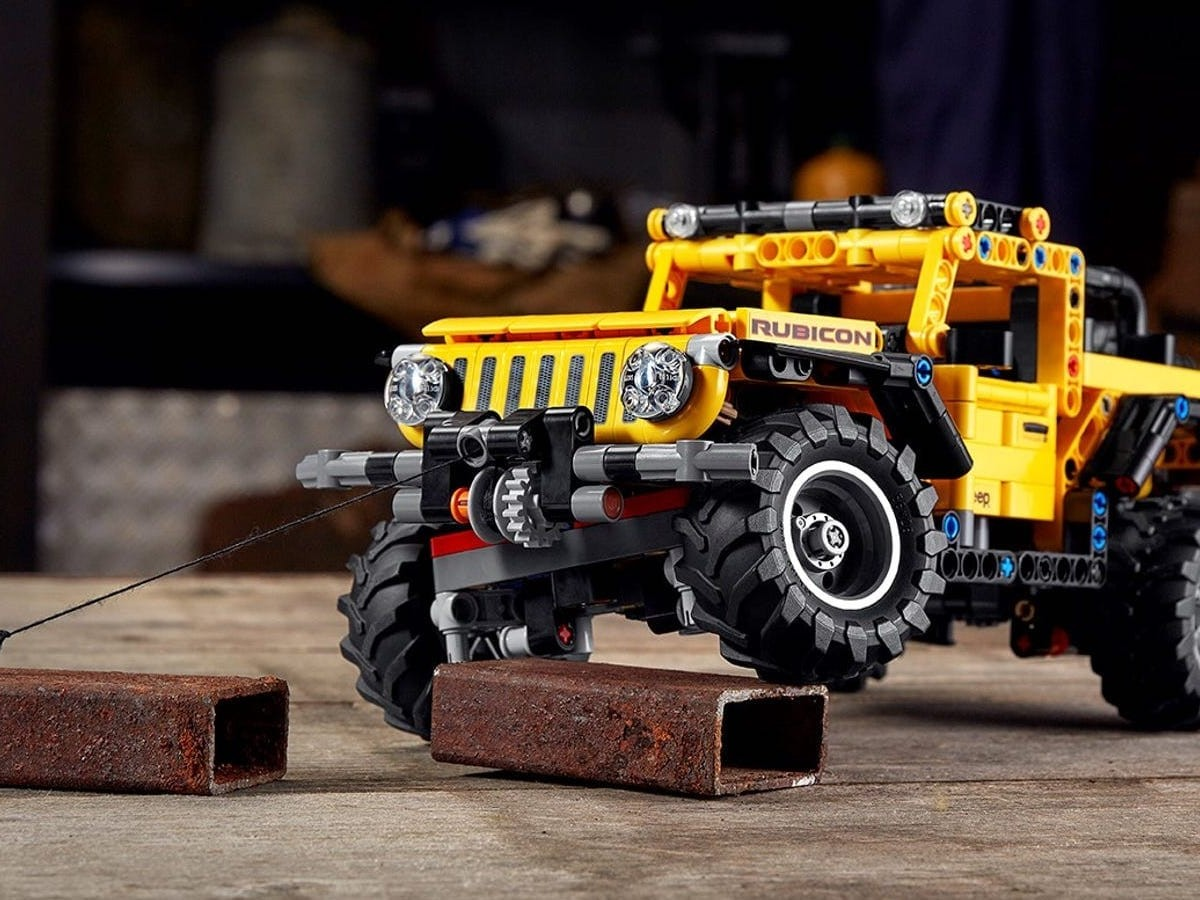 LEGO Technic Jeep Wrangler building set gives you your own high-performance 4X4