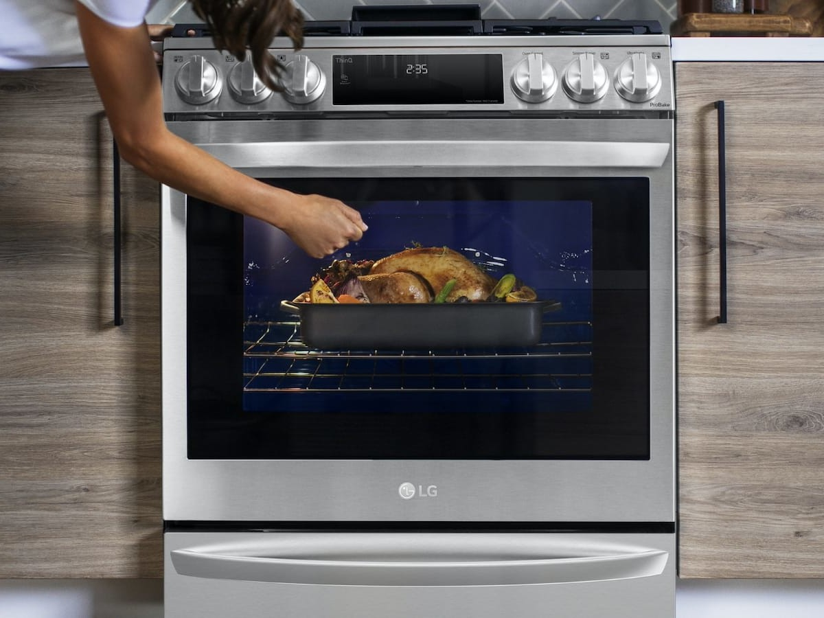 LG 2021 InstaView Range with Air Sous Vide air fryer oven lets you prepare guilt-free food