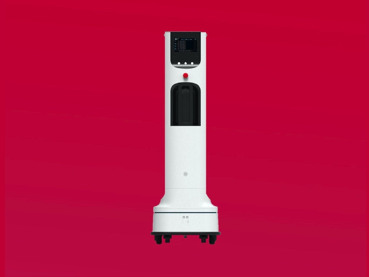 LG Autonomous Robot uses UV-C light to disinfect high-touch areas