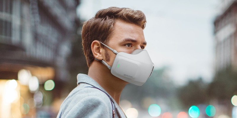 LG PuriCare Wearable Air Purifier battery-powered face mask