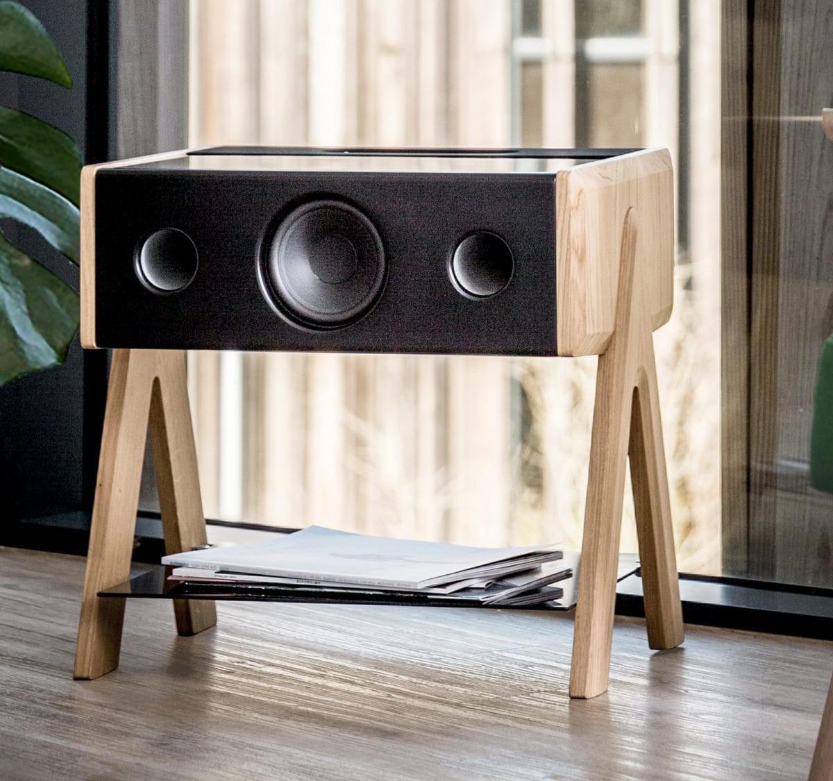 La Boite CUBE immersive loudspeaker also doubles as a coffee table thumbnail