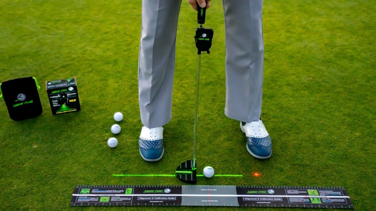 This laser putting aid improves your golf game