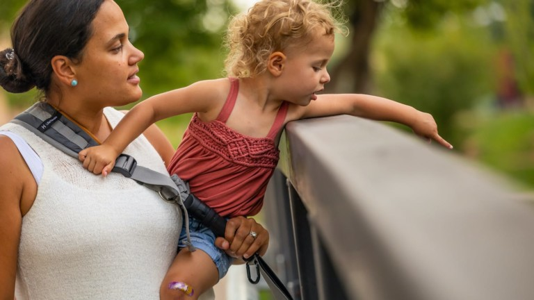 LifeHandle carry anything sling system has an adaptable design for active families