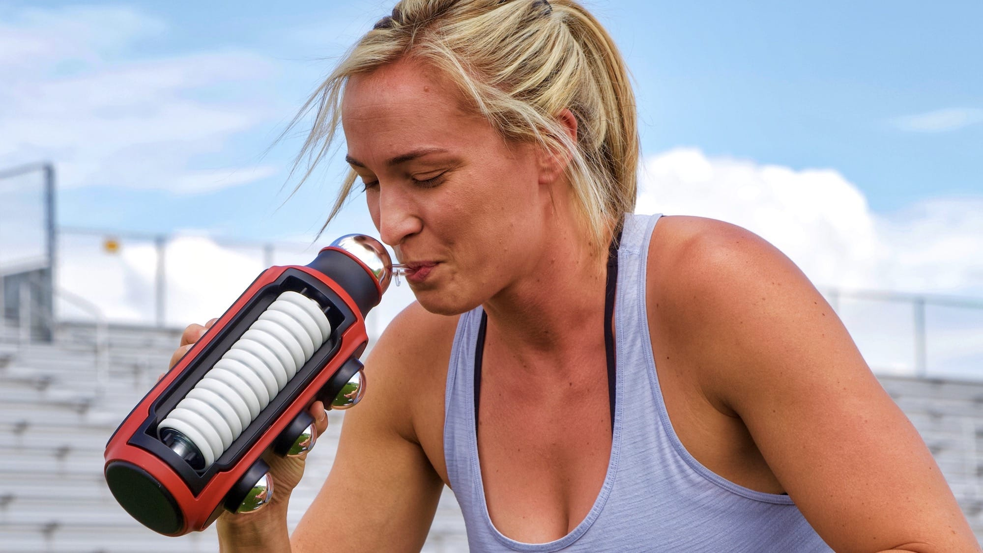 Mobility Mate self-massage water bottle is great for those who live on the go