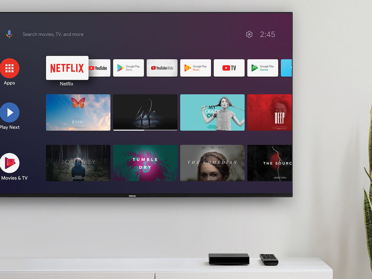 Nokia TV Streaming Box 8000 offers 7,000+ apps, such as Netflix, Disney+, and Prime Video