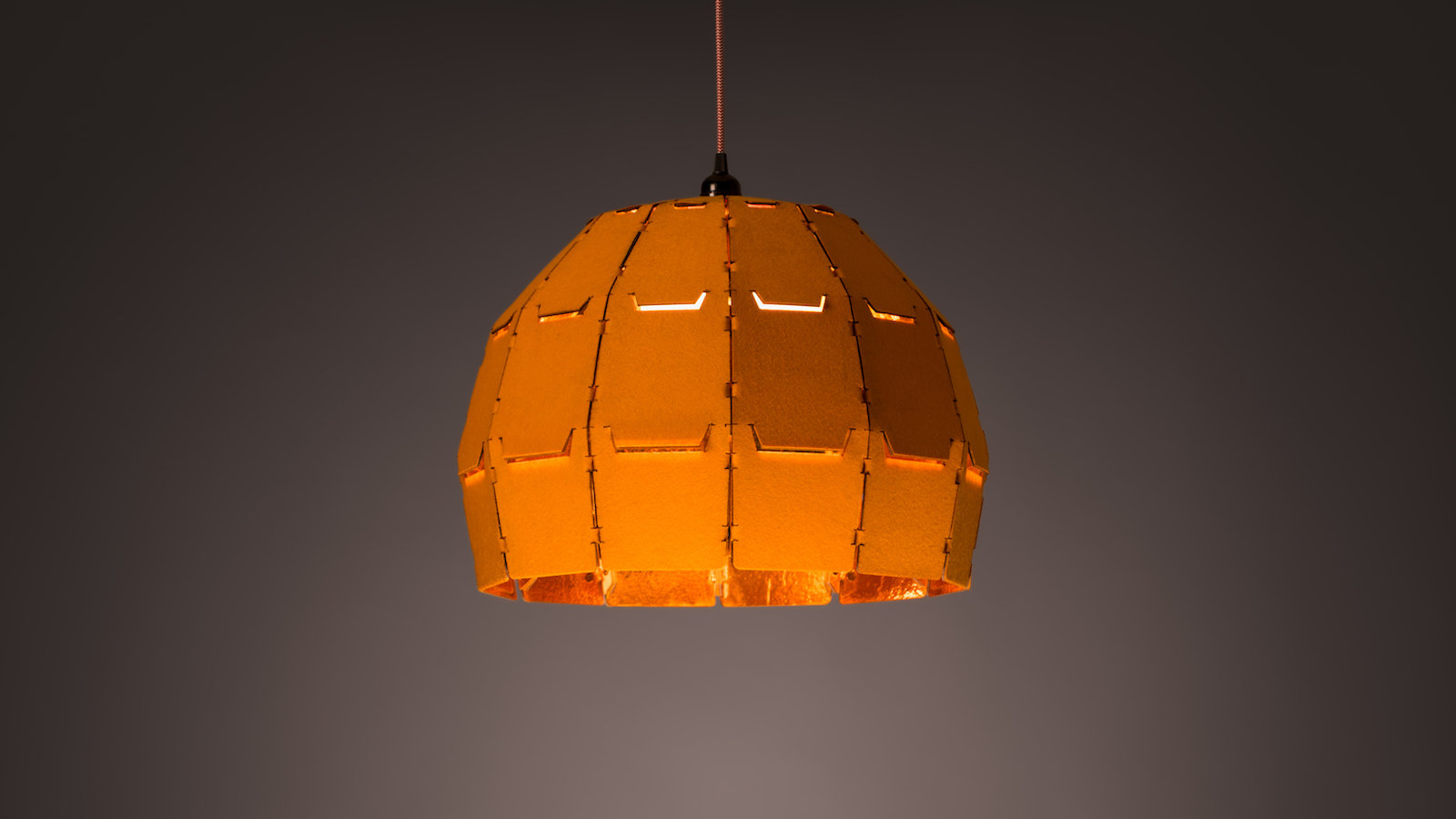 Object Rights Snap Light dome-shaped lamp features sound-absorbing panels