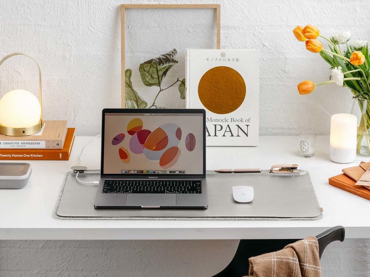Orbitkey Desk Mat workspace organizer keeps your work area neat and tidy