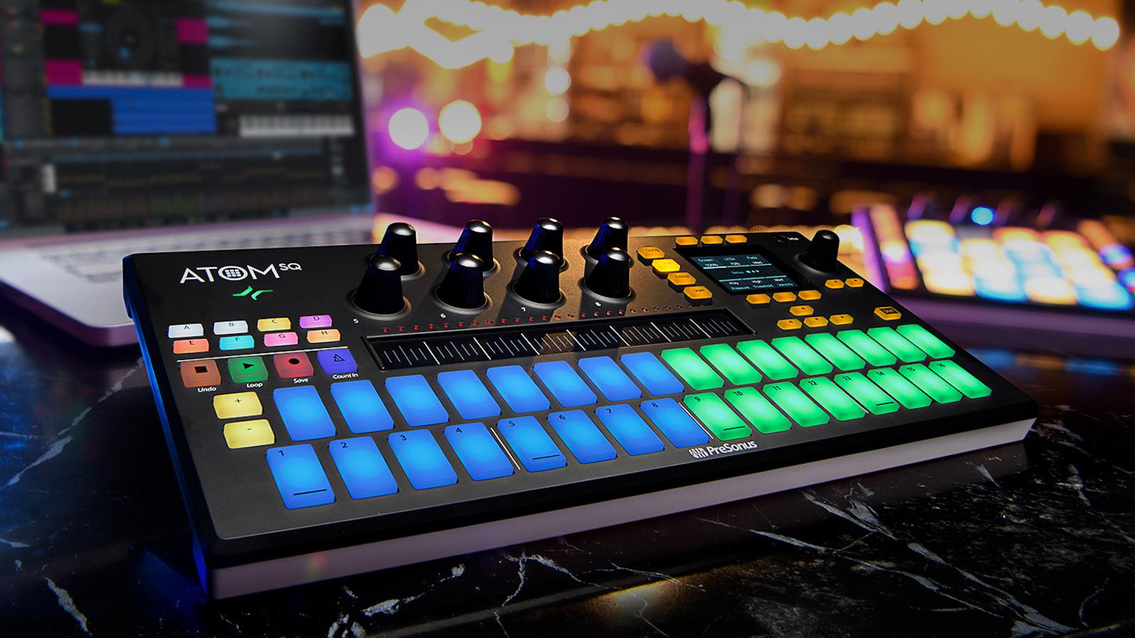 PreSonus ATOM SQ hybrid MIDI keyboard is a versatile pad controller for music production