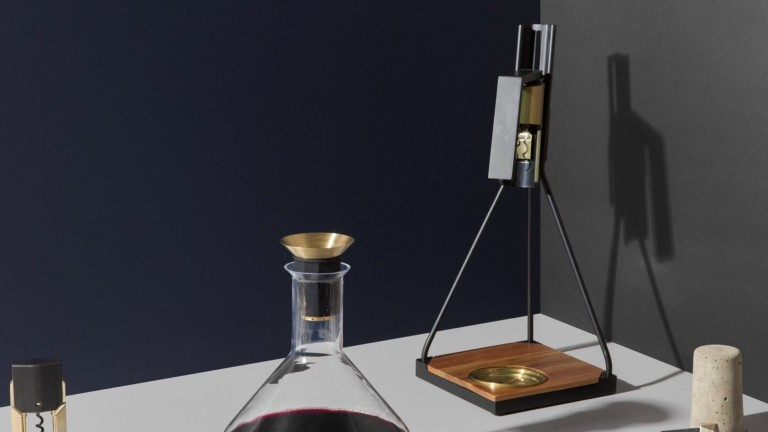 Rabbit Wine Tabletop Corkscrew standing wine opener takes gatherings up a notch