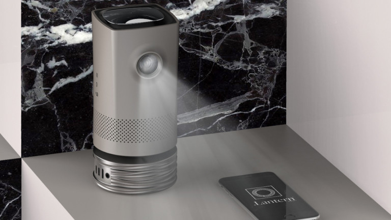 Raymond Ng .Lantern adaptable throw projector creates images above 70″ onto a wall