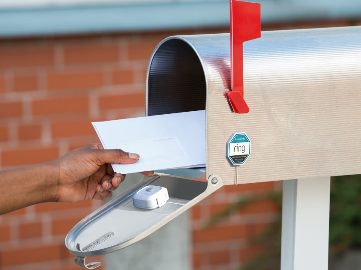 Ring Mailbox Secure Sensor sends you motion-activated notifications when your mail arrives