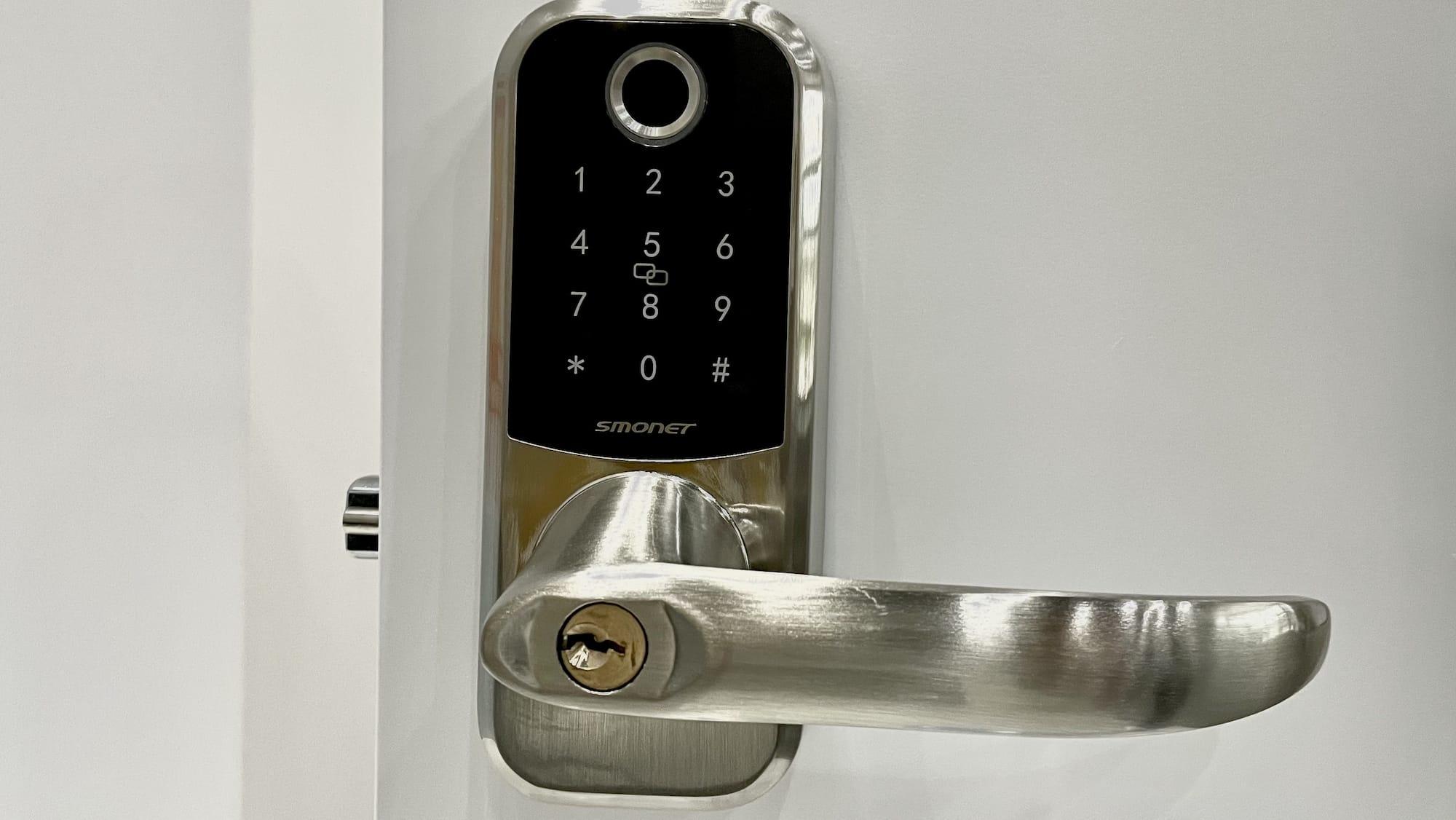 SMONET Keyless Smart Lock with handle features five ways to unlock your door