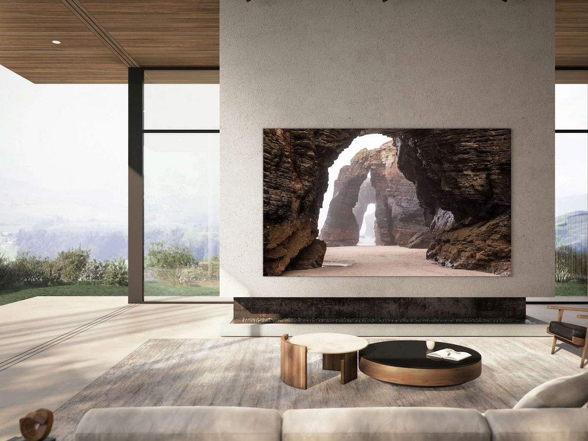 """Samsung 110"""" MicroLED TV lets you split the screen to watch four shows at once"""