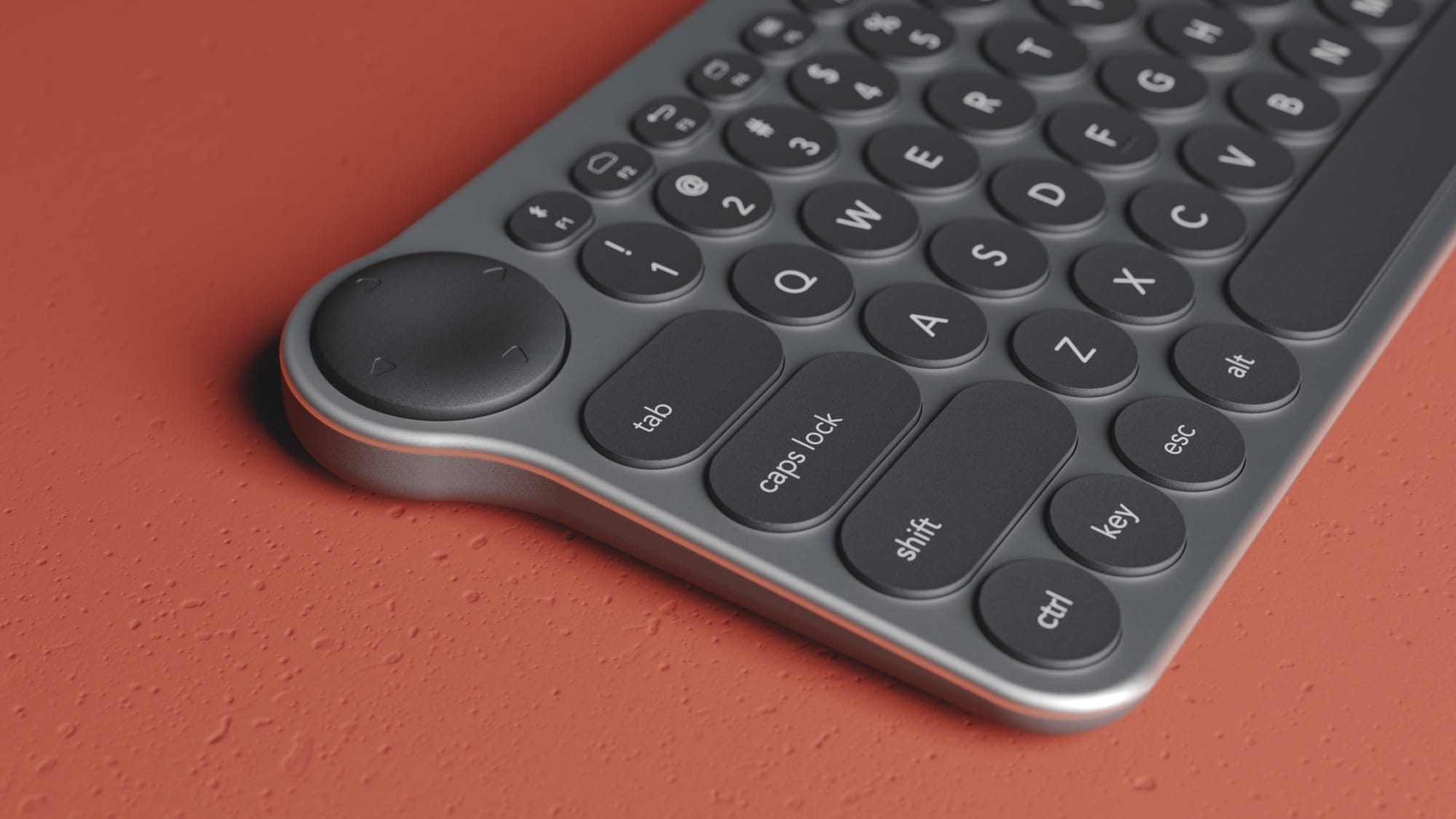 Switcheroo concept gaming keyboard has a built-in controller