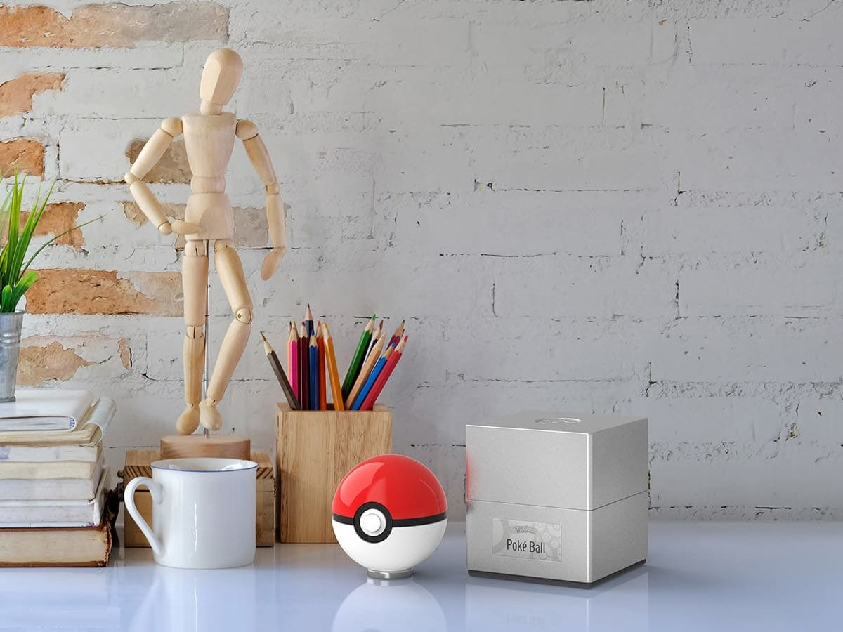 The Wand Company Poké Ball replica is an officially licensed model