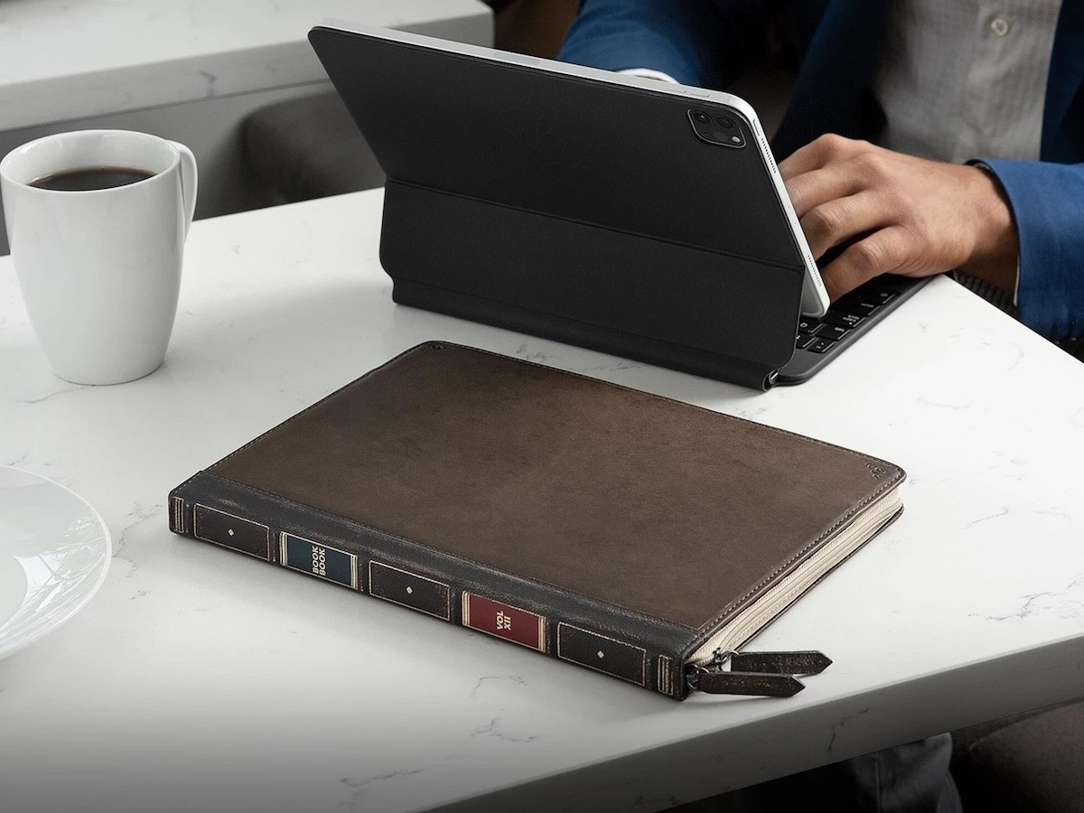 Twelve South BookBook Cover for iPad disguises your device for safety