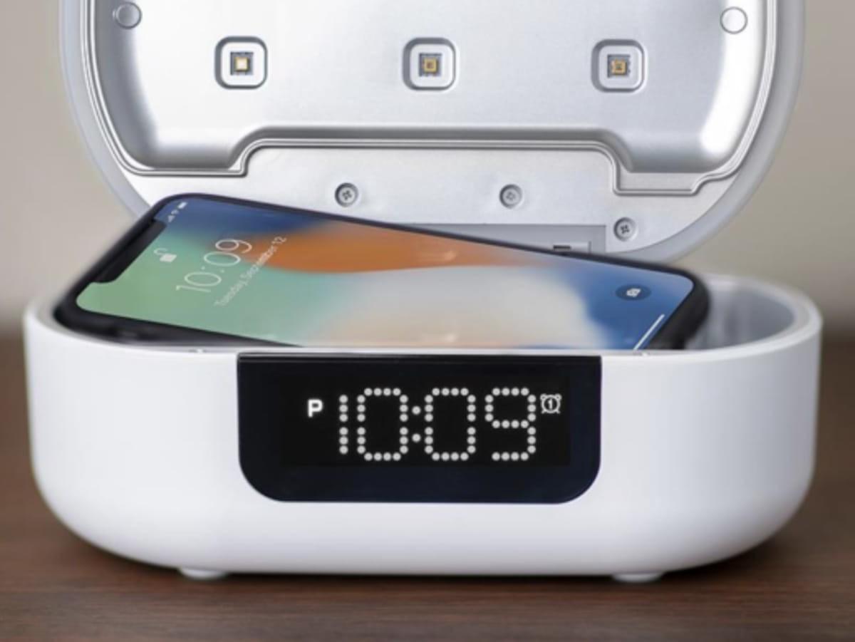 UV-C Sanitizing Alarm Clock has a built-in Bluetooth speaker