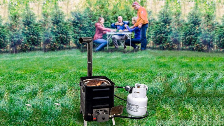 VidaLibre Camping Stove with Propane Burner lets you cook with any kind of fuel