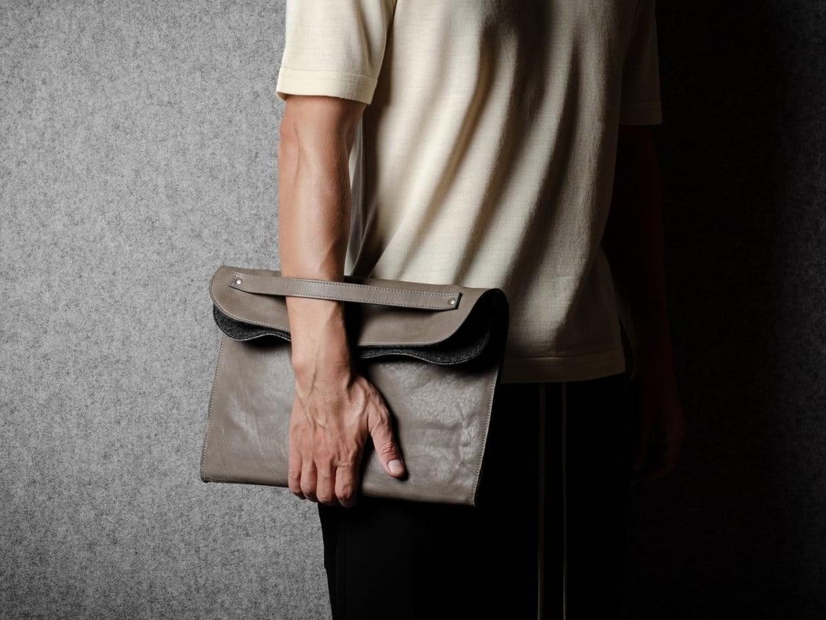 hardgraft Everything Portfolio leather case holds your laptop, documents, and more