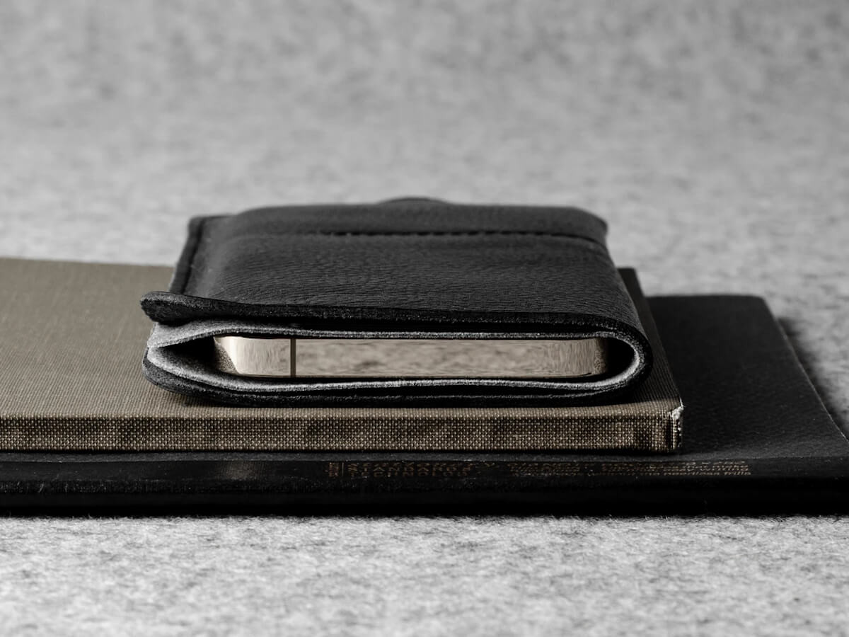 hardgraft Wild iPhone 12 Case uses minimal stitching and features a slim profile thumbnail