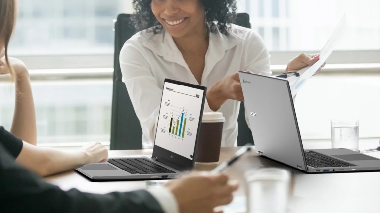 Acer Chromebook Enterprise Spin 514 business laptop includes the Chrome Enterprise upgrade