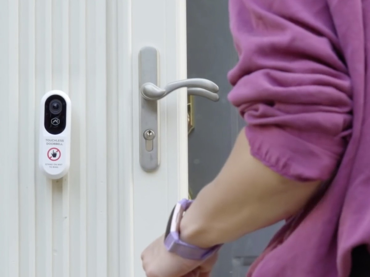 Alarm.com Touchless Video Doorbell rings without contact