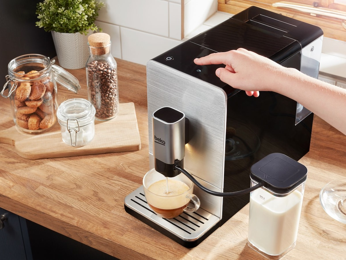 Beko Bean To Cup milk frothing coffee machine lets you make any coffee drink at home