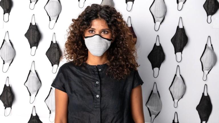 Bilio Koala Mask is knit with zero waste using proprietary antimicrobial technology