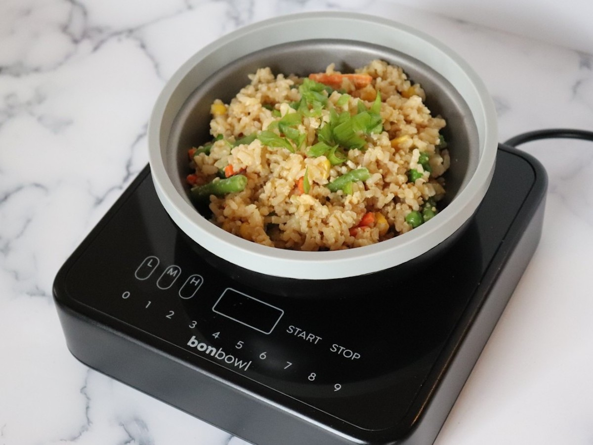 Bonbowl induction-friendly pan and dish lets you cook and eat out of the same bowl