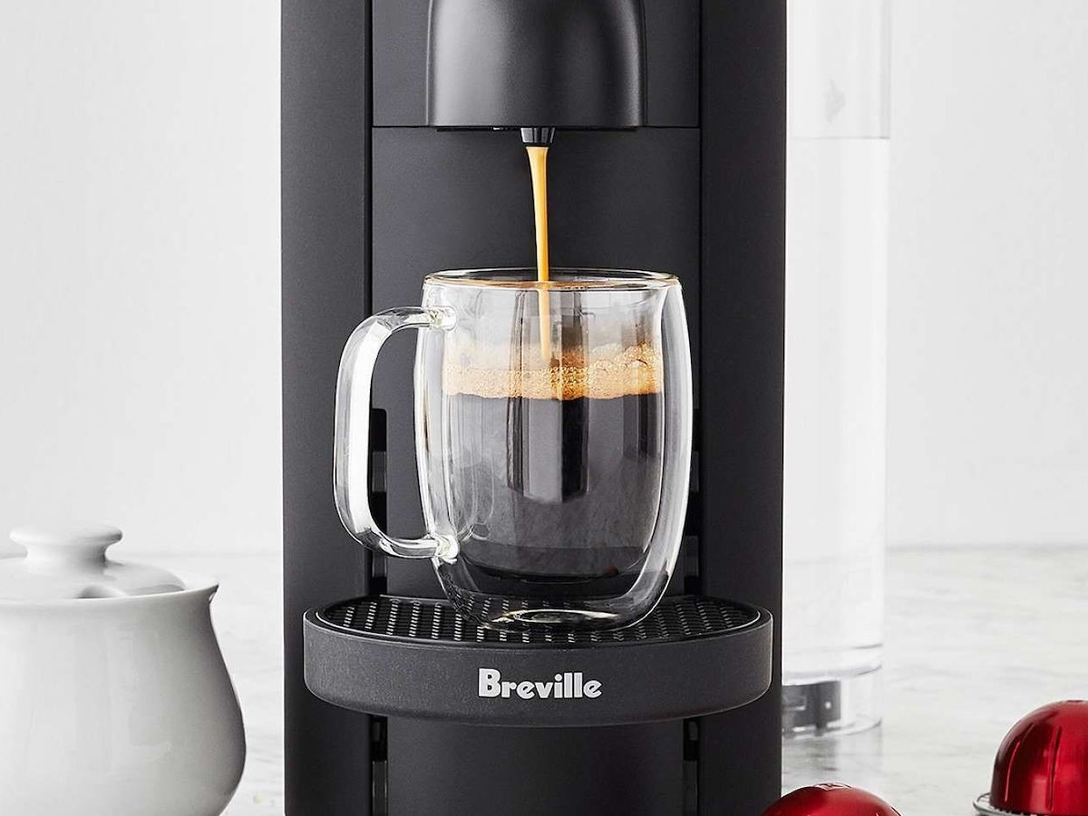 Breville Nespresso VertuoPlus Deluxe capsule coffee maker brews up to 5 cups