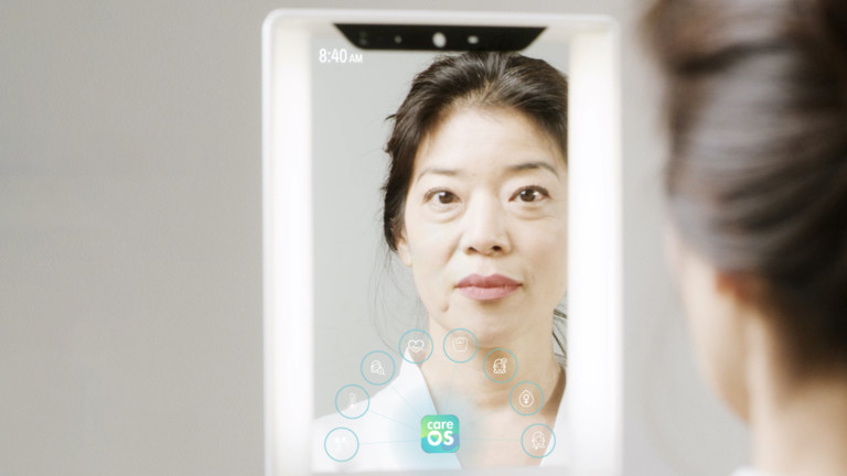 CareOS Themis Smart Mirror is packed with sensors to track your health