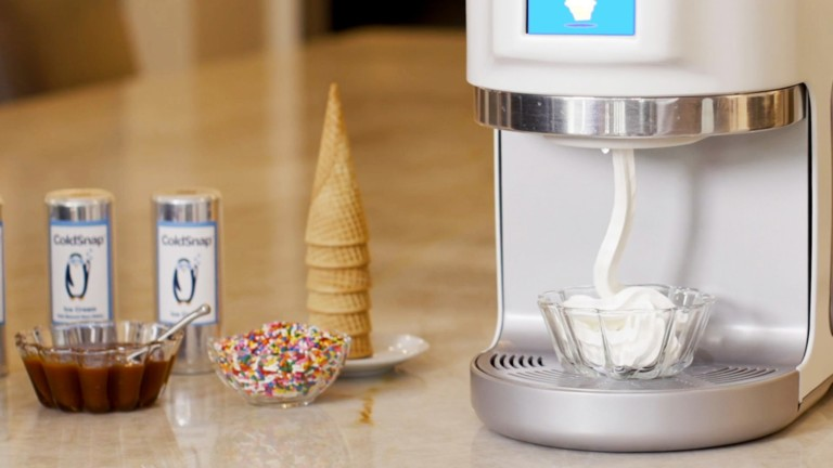 Coldsnap frozen treat machine in use