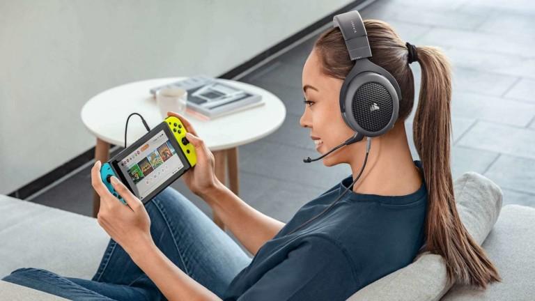 Corsair HS70 Bluetooth Wired Gaming Headset has custom-tuned 50 mm neodymium audio drivers