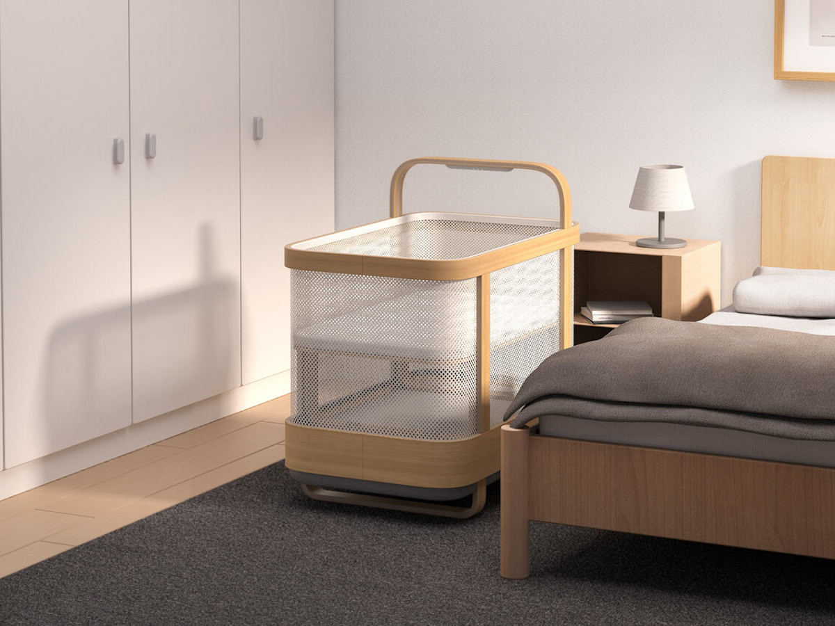 Cradlewise Smart Crib is a crib, bassinet, and baby monitor in-one