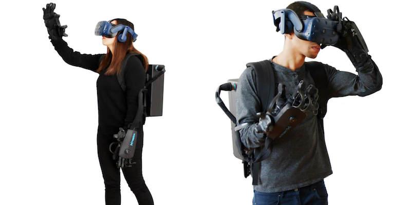 DK2 Haptic VR Gloves