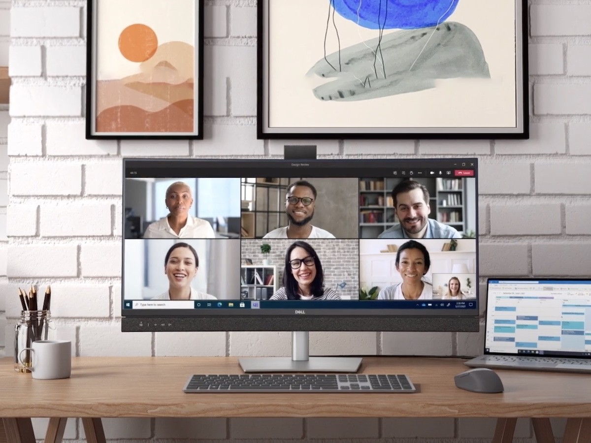 Dell Video Conferencing Monitor series has a dedicated Microsoft Teams button