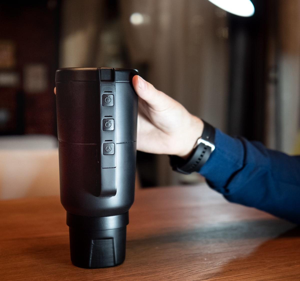 DisMug disinfecting device is a stylish mug with advanced UV-light tech disinfection
