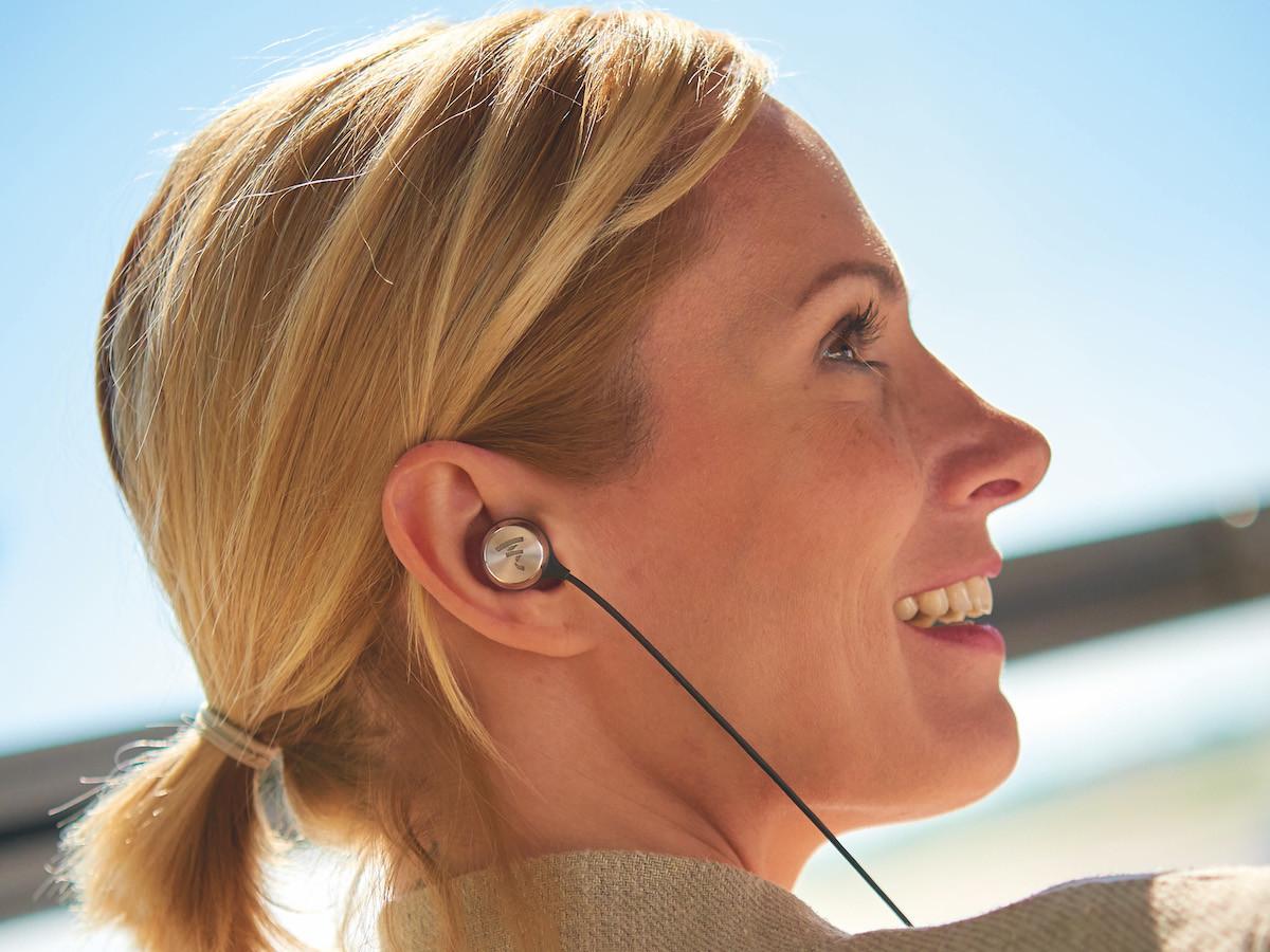FOCAL Sphear wireless HD earphones feature memory foam ear tips for sound isolation