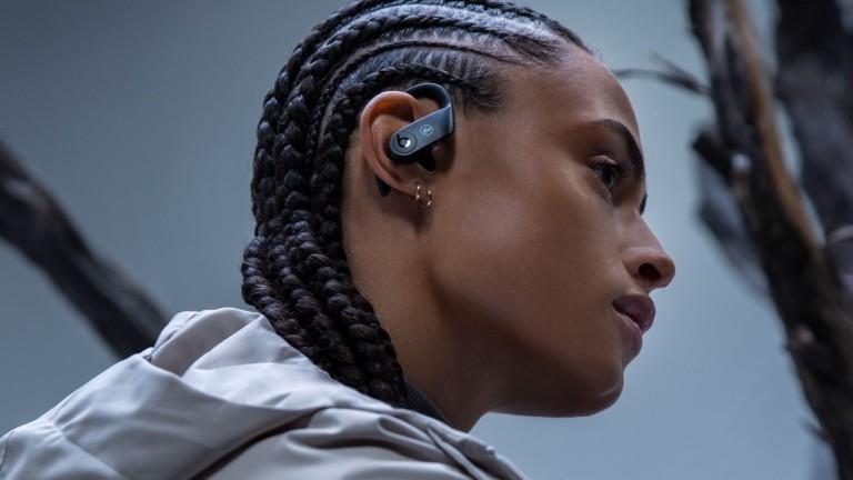 Fragment & Beats Powerbeats Pro Earphones feature a sleek, black-on black design