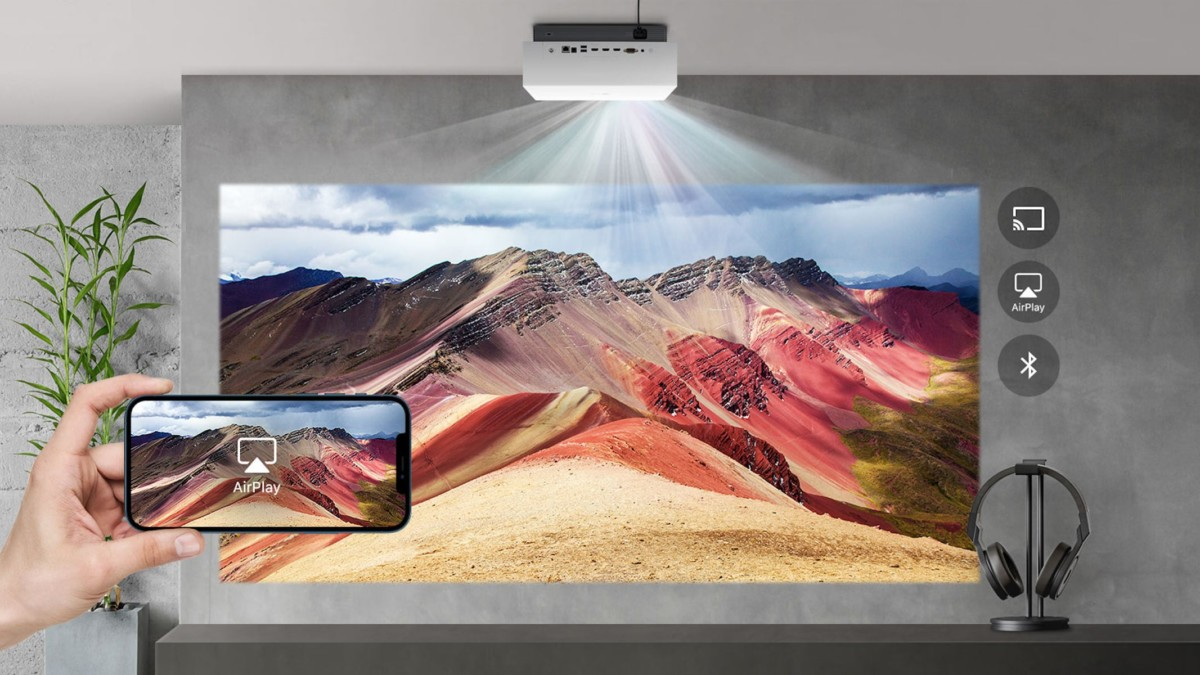 LG announces a $3K 4K laser projector with AirPlay support at CES 2021