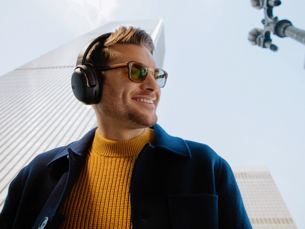 JBL Tour ONE noise-canceling headphones monitor sound & adapt to the environment