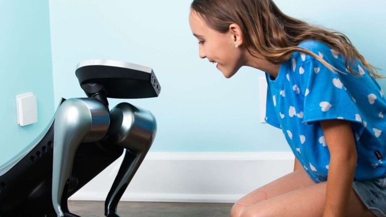 KODA AI robot dog interacts socially with its owners