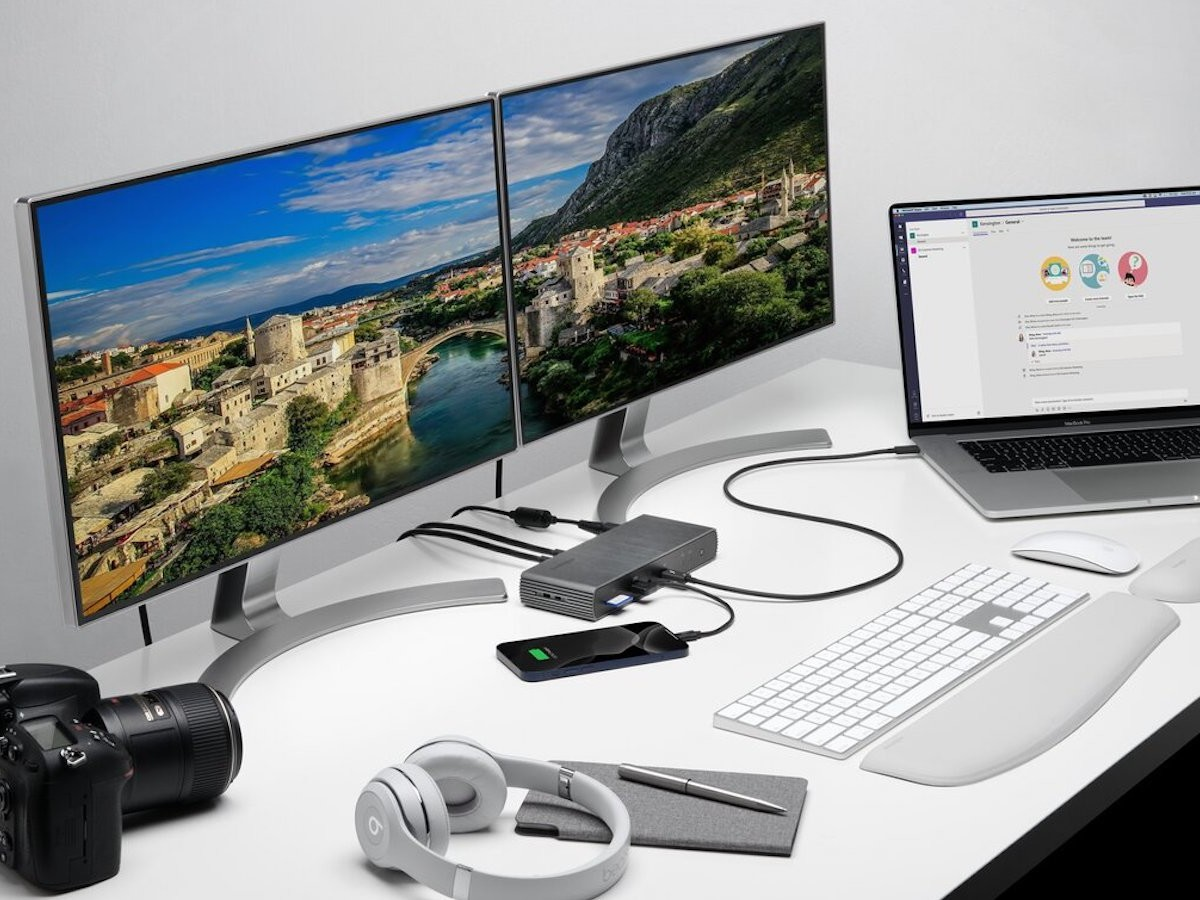 Kensington SD5700T Thunderbolt 4 Dual 4K Dock includes 11 ports in a compact design