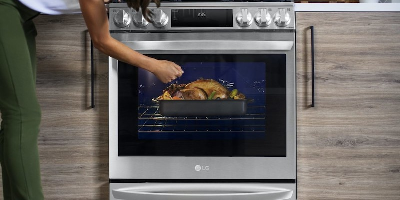 LG 2021 InstaView Range with Air Sous Vide air fryer oven
